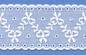 "Swiss Lace Insertion 1 5/8"" #63967 White"