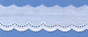 "Swiss Lace Edge 7/8"" #64093 White"
