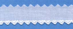 "Swiss Lace Edging 3/4"" #68119A White or Champagne"