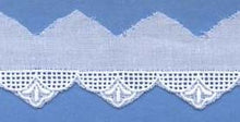 "Swiss Lace Edging 1"" #68861 White or Champagne"