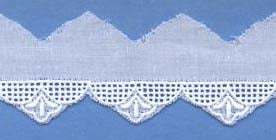 "Swiss Lace Edging 1"" #68861 White"