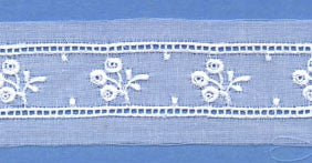"Swiss Lace Insertion 1 5/8"" #91006 White"