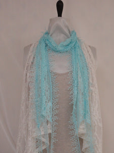 Lace Style Scarf - Beige