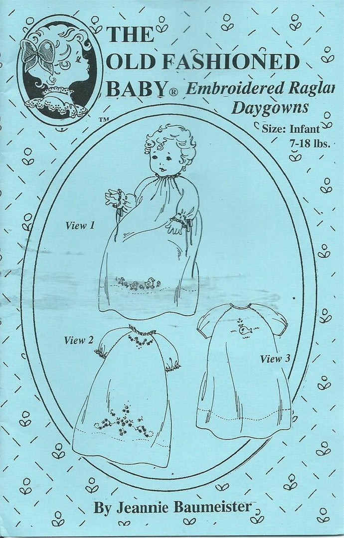 Embroidered Raglan Daygowns, Size Infant  7 - 18 Lbs.