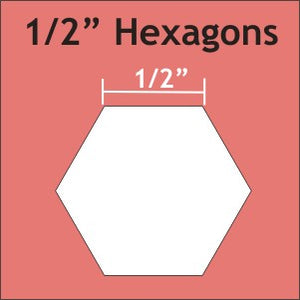 "Hexagon Paper Pieces / 1/2"" - 125 Pieces"