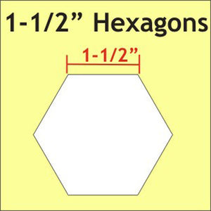 "Hexagon Paper Pieces / 1 1/2"" - 50 Pieces"