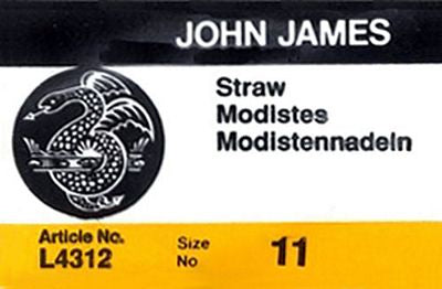 John James Milliner/Straw Hand Sewing Needles, Size 11