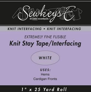 "Fusible Knit Stay Tape - 1"" Wide White"