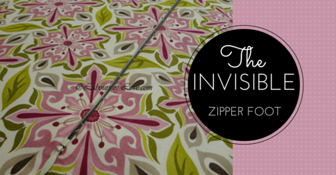 Sewing Lesson #2 The Invisible Zipper Foot