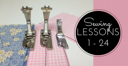 Sewing Lessons Lessons 1 - 24 and the Bonus Class, One Delivered Every 15 Days