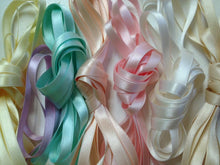 Double Faced Silk Satin Ribbon, Yellow 1/4""