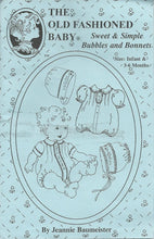 Sweet and Simple Bubbles and Bonnets, Size Infant and 3 - 6 Months