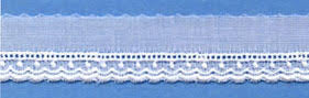 "Swiss Lace Edge 5/8"" #56384 White"