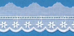"Swiss Lace Edge 1"" #59174 White"