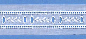 "Swiss Lace Beading 1 1/8"" #61929 White"