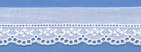 "Swiss Lace Edge 7/8"" #48443 White"