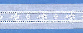 "Swiss Lace Insertion 15/16"" #57039 White"