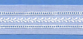 "Swiss Lace Insertion 1 1/8"" #60812 White"