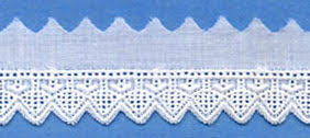 "Swiss Lace Edge 3/4"" #45232 White"