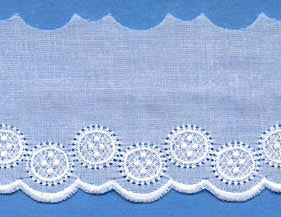 "Swiss Lace Edge 2"" #47270 White"