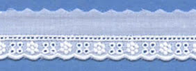 "Swiss Lace Edge 3/4"" #47753 White"
