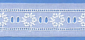 "Swiss Lace Beading 1 1/4"" #61930 White"
