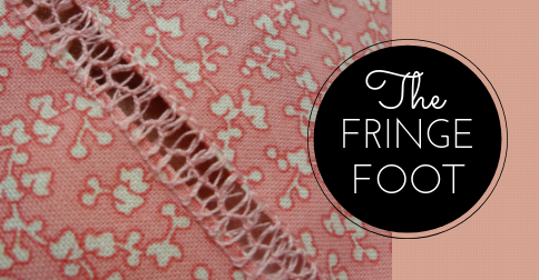 Sewing Lesson #35 The Fringe Foot