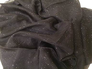 Glam Sparkle Scarf - Black