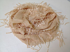 Casual Lace Style Scarf - Cream