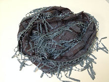 Casual Lace Style Scarf - Denim Blue