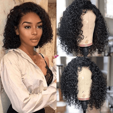 "14"" Afro Short Curly Kinky Wigs Fluffy Wavy Full Wig"