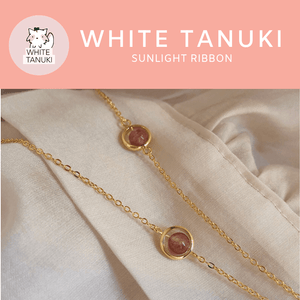 White Tanuki Bracelet Sunlight Ribbon