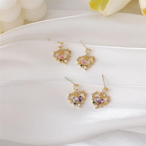 White Tanuki Floral Equinox Earrings