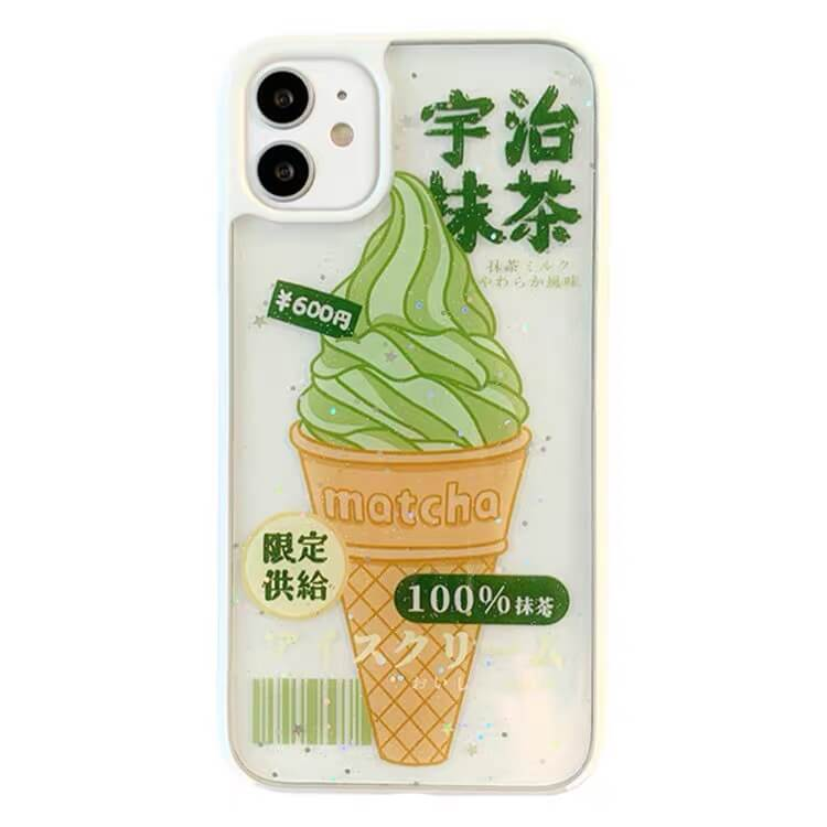 White Tanuki For iphone11ProMax / White Matcha Ice Cream Phone Case