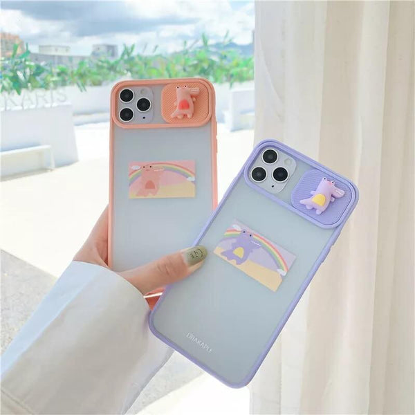 White Tanuki Happy Crocodile Phone Case