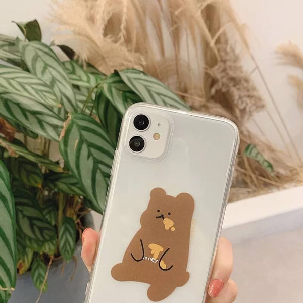White Tanuki Just a Little Honey Phone Case