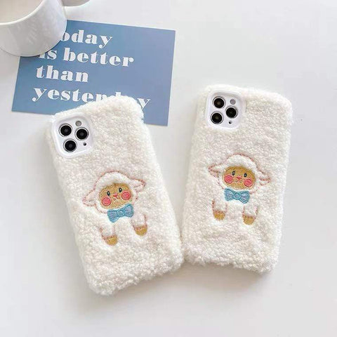 White Tanuki Mary's Lamb Phone Case