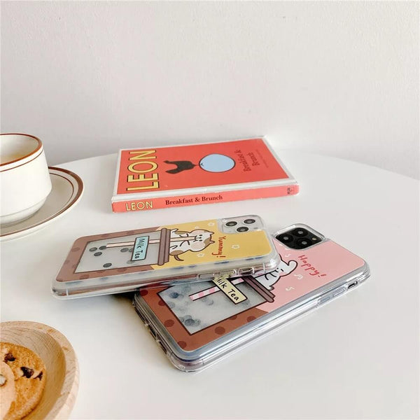 White Tanuki Milk Tea Phone Case