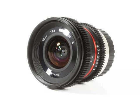Samyang 12mm T2.2 NCS CS VDSLR Lens for Fujifilm X