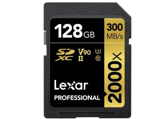 Lexar 128GB Professional 2000x UHS-II SDXC Memory Card 300 MB/s + SD Card Reader