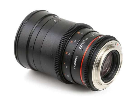Samyang 135mm T2.2 AS UMC VDSLR II Cine Lens for Sony E Mount Lens Prima Photo & Video