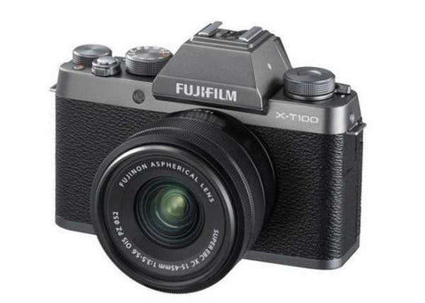 Fujifilm X-T100 Mirrorless Digital Camera +15-45mm Lens Mirrorless Camera Prima Photo & Video