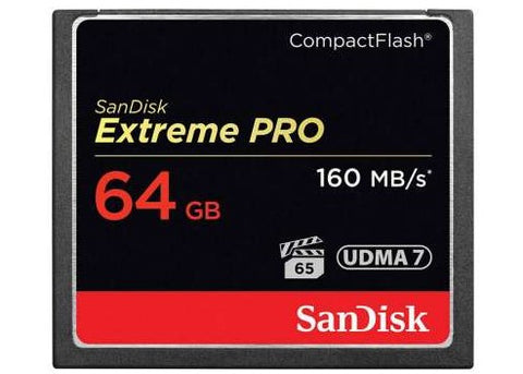 SanDisk 64GB Extreme Pro Compact Flash Memory Card 160 MB/s