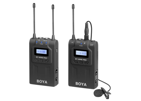 Boya BY-WM8 Pro K1 UHF Dual-Channel Wireless Microphone System