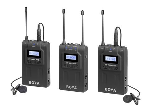 Boya BY-WM8 Pro K2 UHF Dual-Channel Wireless Microphone System
