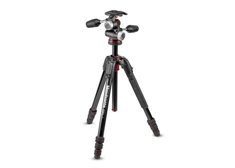 Manfrotto 190go! MS Aluminum Tripod Kit 4-Section with XPRO 3-Way Head