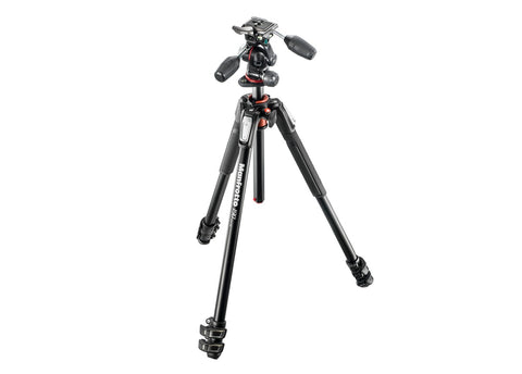 Manfrotto 190 3-Section Tripod with XPRO 3-Way Head Kit