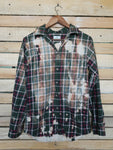 Believe Distressed Flannel - Adult Small/Medium