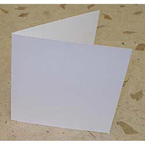 White Large square matte 350gsm smooth