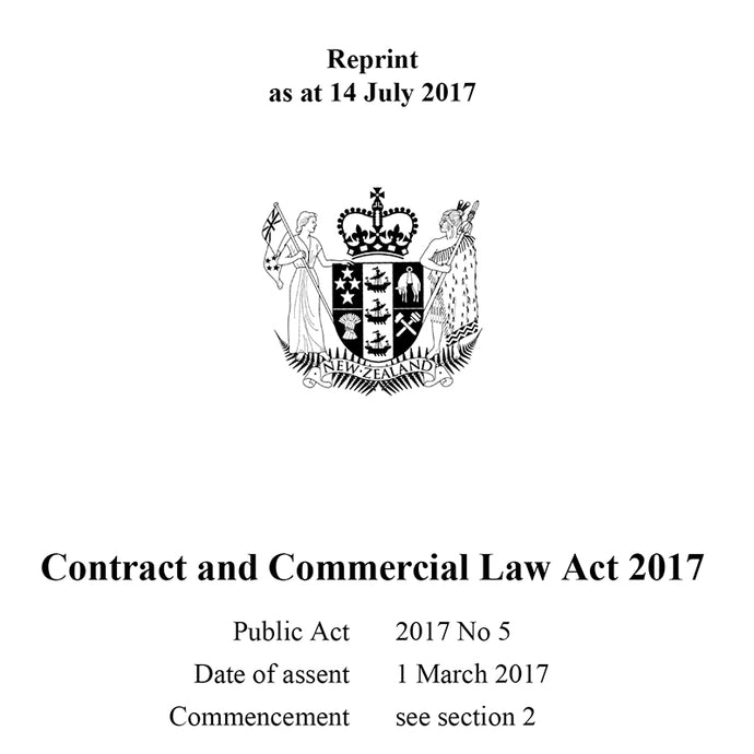 Contract & Commercial Law Act 2017